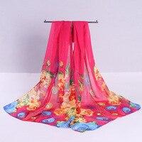 G018 A new chiffon silk scarf