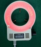 64mm 60pcs Red LED Light Adjustable Microscope Ring Lamp for Indurstry Stereo Video Microscope