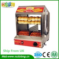 High Quality Electric Stainless Hot Dog Warming Cabinet Food Warmer Showcase Display