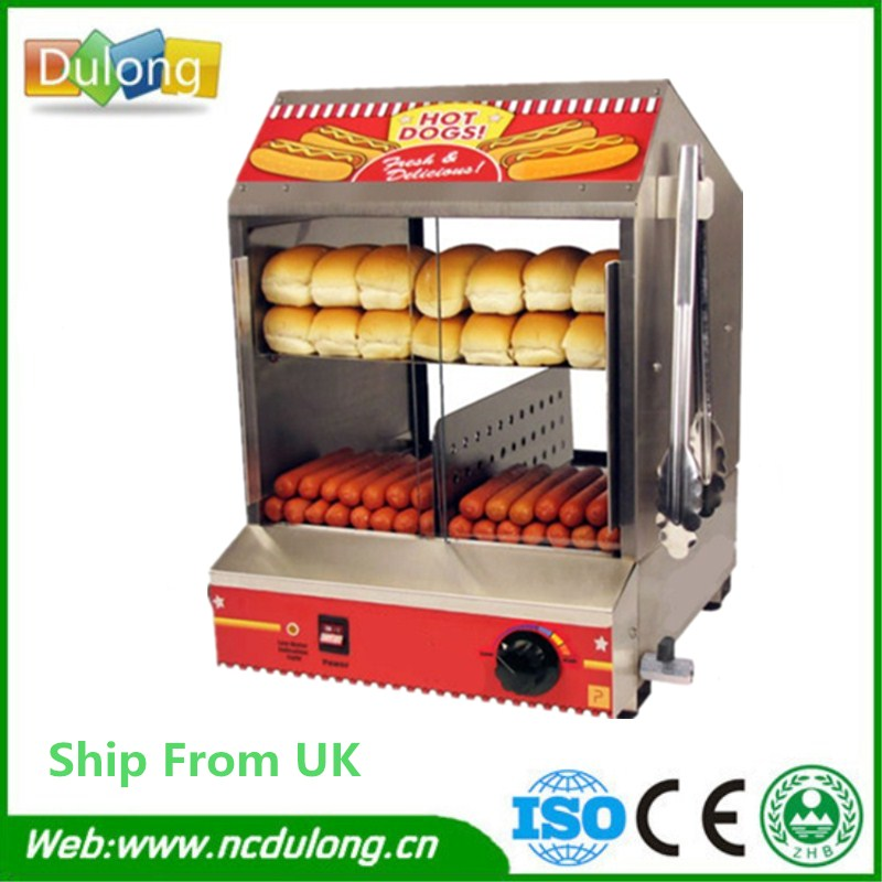 High Quality Electric Stainless Hot Dog Warming Cabinet Food Warmer Showcase Display high quality hot dog display showcase food warmer stainless steel bread sandwich countertop tool
