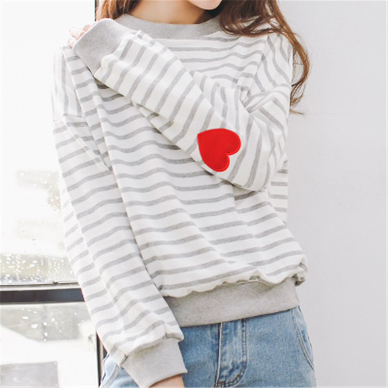 SWT90Winter Autumn New Fashion Cute Love Printed Loose Letters Special Knitted College christmas Female women sweaters pullovers