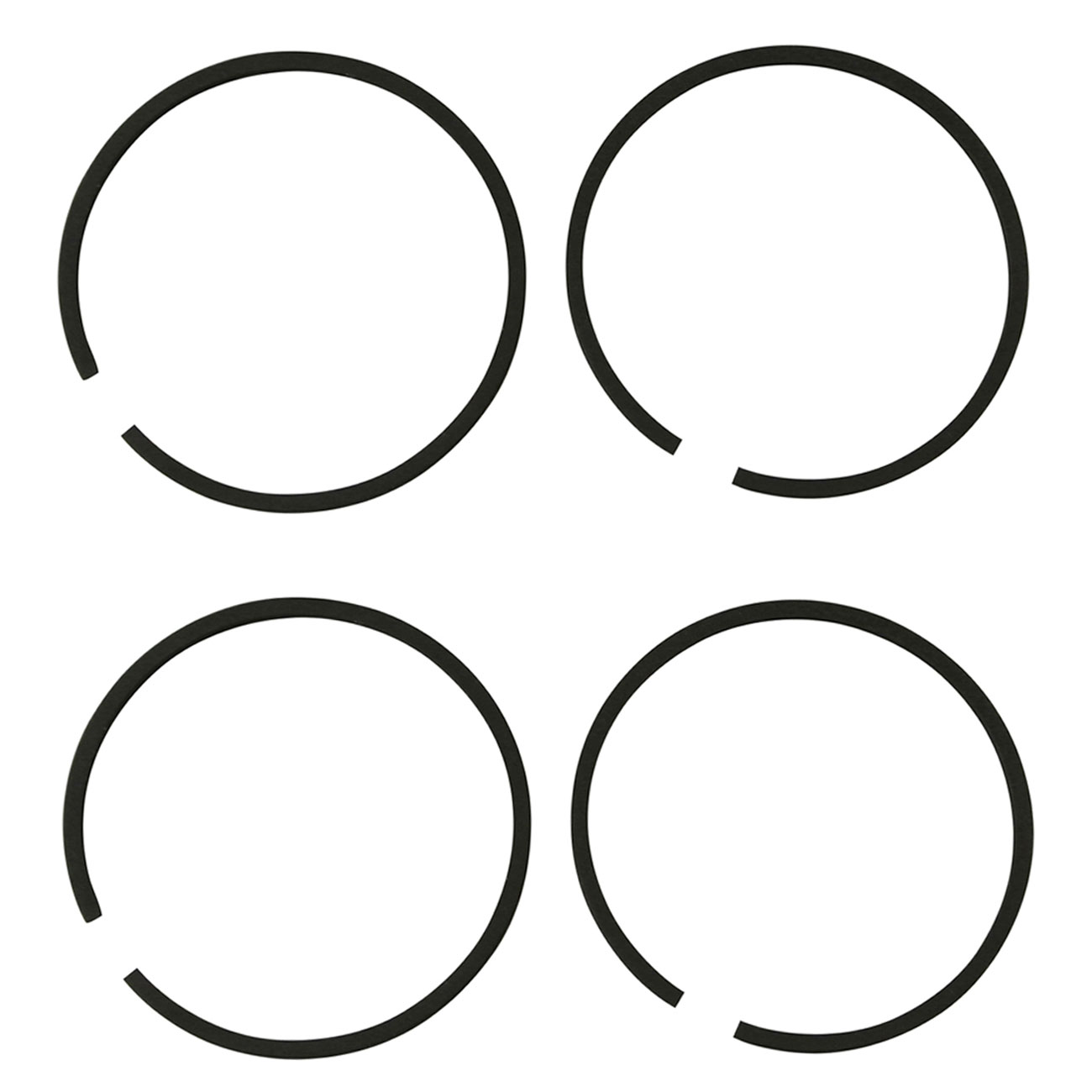 Set Of 4 Piston Rings For Husqvarna Chainsaw 36 136 137 (38mm)