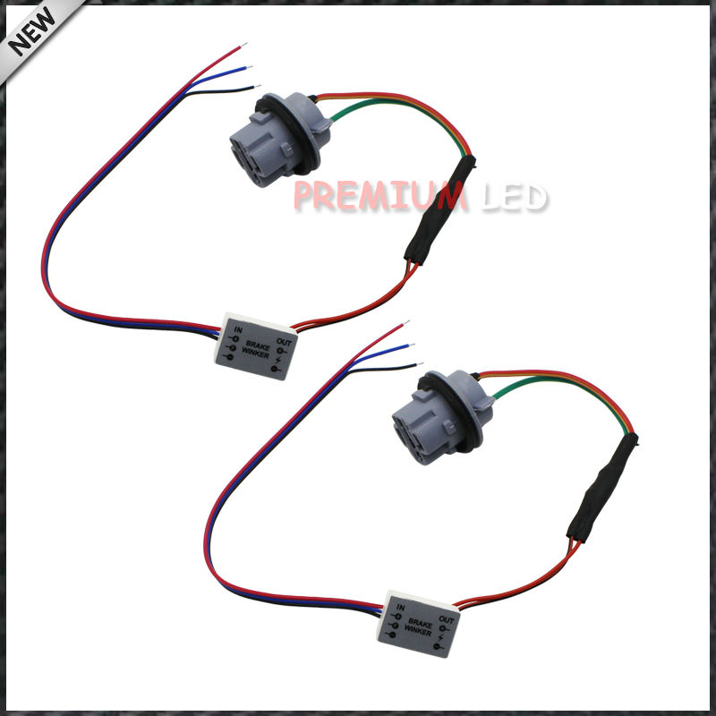 7440 T20 Socket Adapter Wiring Harness With Continuous Strobe Flash Module Box For Car 3rd Brake 7440 wiring harness diagram wiring diagrams for diy car repairs Wiring Harness Diagram at soozxer.org
