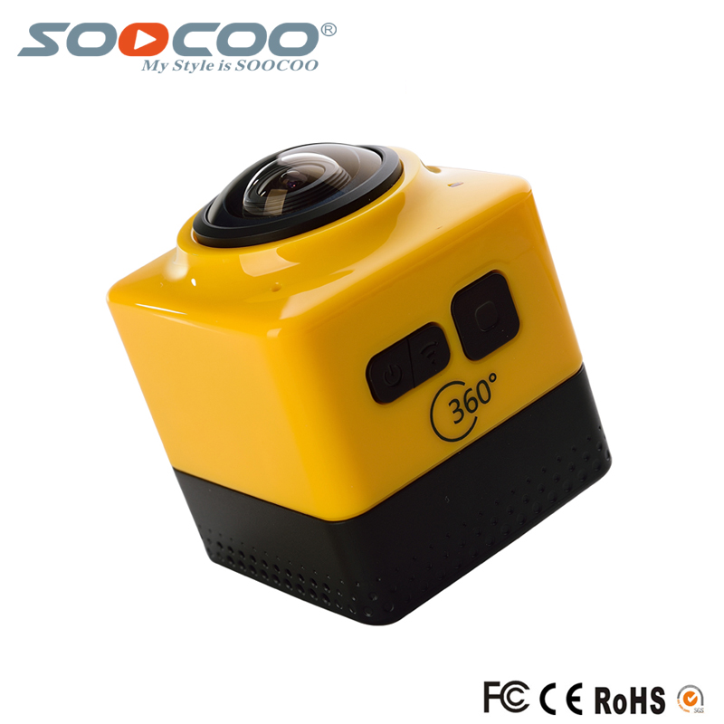 ФОТО CUBE360 Mini Sports Action Camera 720P 360 Degree Panoramic VR Camera Build-in WiFi