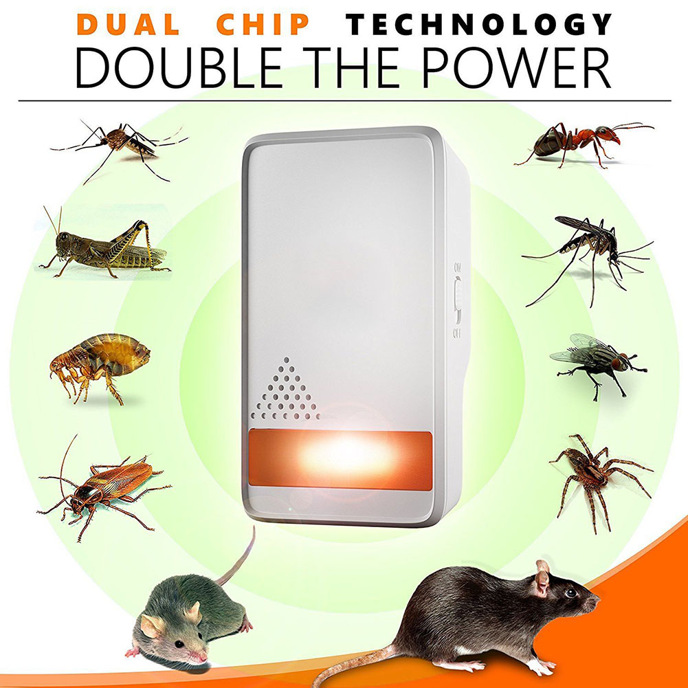 4 Pcs Ultrasonic Pest Repeller Electronic Indoor Plug Insects Repellent Anti Mice Bug Ant Mosquito CLH@8 стоимость