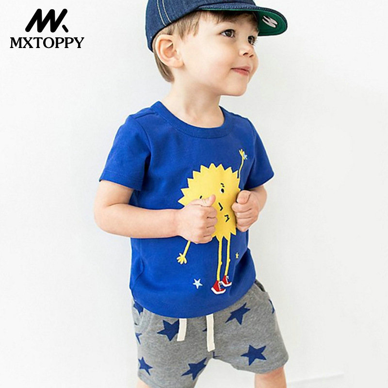 MXTOPPY Boys Clothes Sets Summer Children Clothing Animal Applique Unicorn Tops+Shorts Boys Sport Suits For Kids Clothes S ...