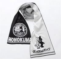 Danganronpa 2 Goodbye Despair White Black Bear Monokuma Cosplay 5.9 Feet Warm Soft Knitting Scarf
