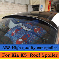 For KIA K5 OPTIMA Roof Spoiler 2011 to 2015 OPTIMA High Quality ABS Material Car Rear Wing Primer Color Rear Spoiler