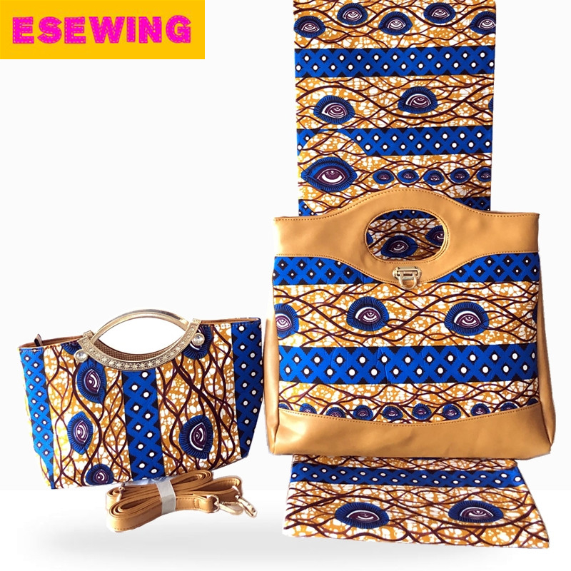 2019 Latest design!New arrival Nigerian wax bag 3 pieces/set,high quality woman handbag and 6 yards real wax Nigerian Ankara wax2019 Latest design!New arrival Nigerian wax bag 3 pieces/set,high quality woman handbag and 6 yards real wax Nigerian Ankara wax