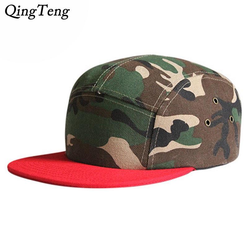 5 panel cap camo snapback hats snapbacks flap