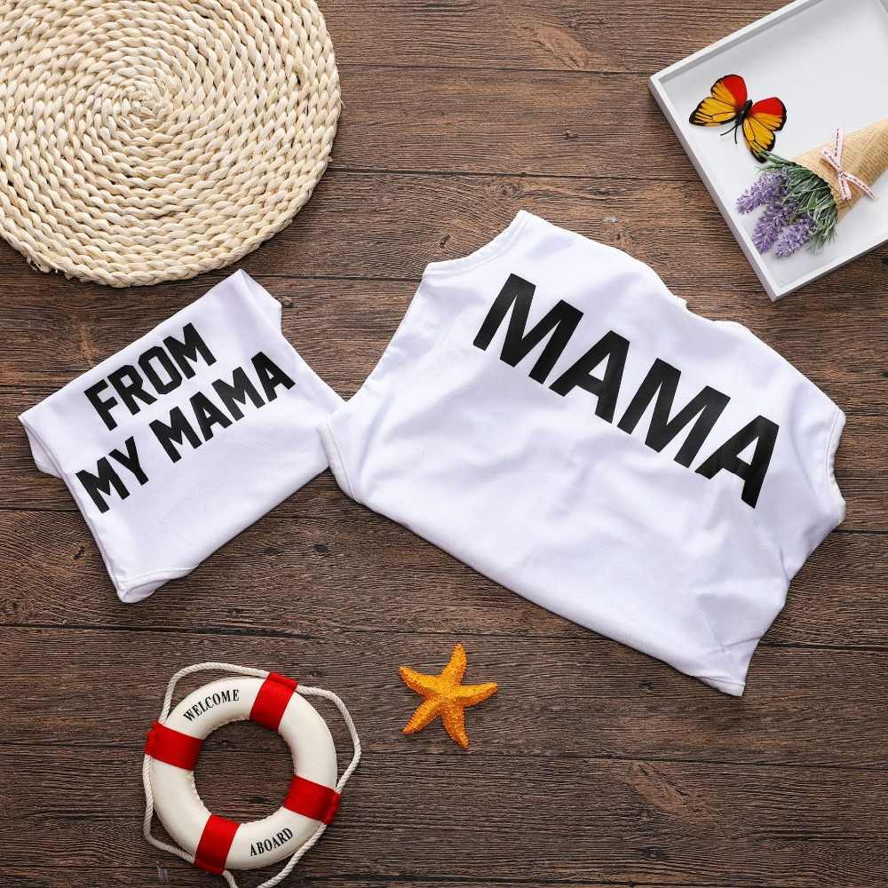 Mother Daughter Swimwear Family Look Mom And Daughter Swimsuits Letter  Family Matching Mommy and Me Bathing Suits Clothes