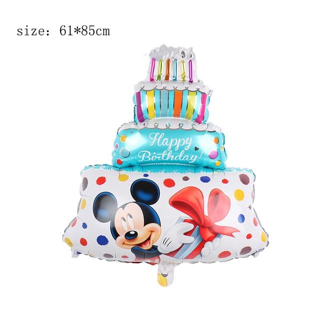 Strange 30Ppcs Large Mickey Minnie Birthday Cake Foil Balloons Cartoon Funny Birthday Cards Online Alyptdamsfinfo