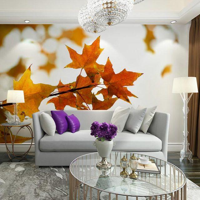 Ahorn Blätter Foto Tapete Wandbild Home Decor Wand Papiere 3D ...