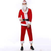 New Man S Christmas Clothes With Belt Long Sleeve Disfraces Occident Style Cosplay Christmas Costumes Hot