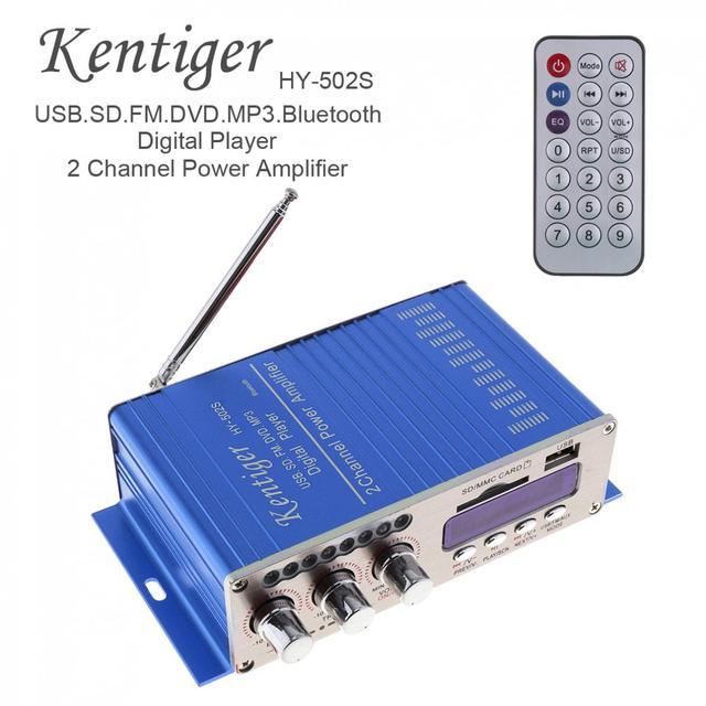 Best Offers HY502S HiFi Mini 2 Channel Digital FM Audio Auto Power Player Amplifier Car Bluetooth Amplifier MP3 Speaker for iPod Motorcycle