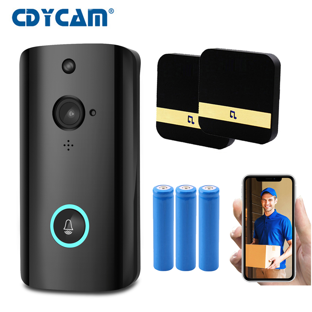 High quality Video Intercom Doorbell WiFi Audio Doorbell With Camera 720P Peephole and Night Vision Smart