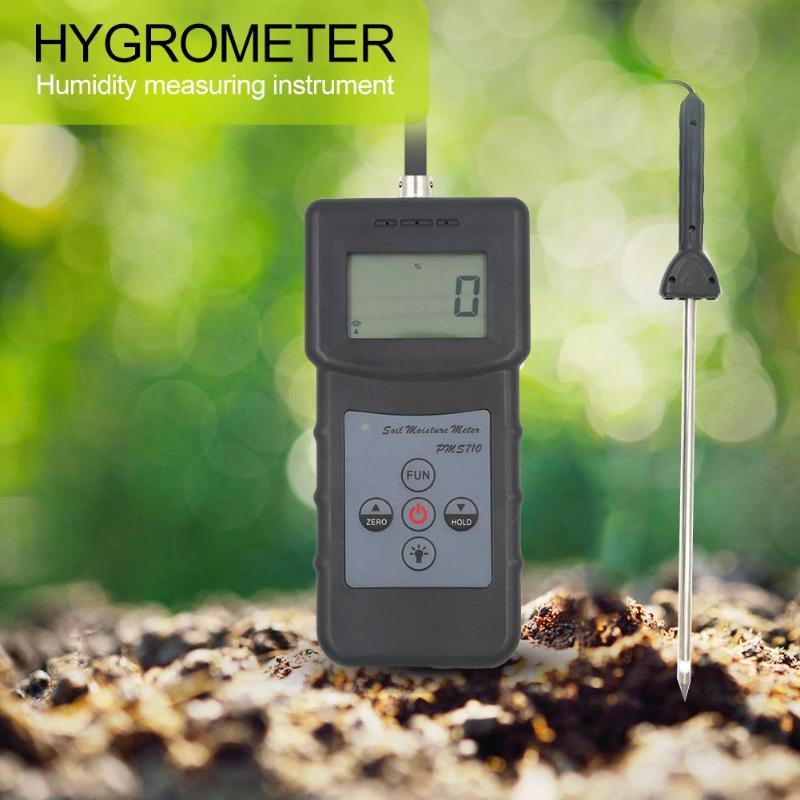 Analyseur d'humidité détecteur d'eau humide testeur Portable numérique PMS710 humidimètre sonde analyseur pour béton rivière sable