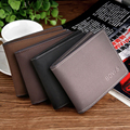 New high-quality fashion solid color men's faux leather driving license vehicle documents folder card package card holders
