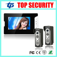 New arrival 7″ color video door phone wired village video intercom video door bell optional rfid card reader access control