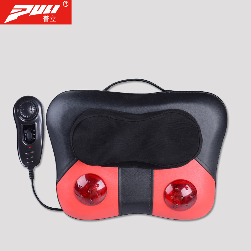 PULI Masseur pour le Cou Oreiller Électrique Shiatsu Masseur Vertèbre Cervicale Dispositif Ménage Multifonctionnel Corps Coussin De Massage
