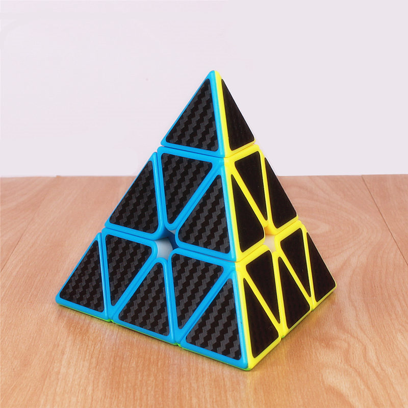Moyu Mofangjiaoshi Pyramid Magic Cube Analog Carbon Fiber Stickers Speed Cubes Professional Puzzle Pyramid Cubes Triangle Toy