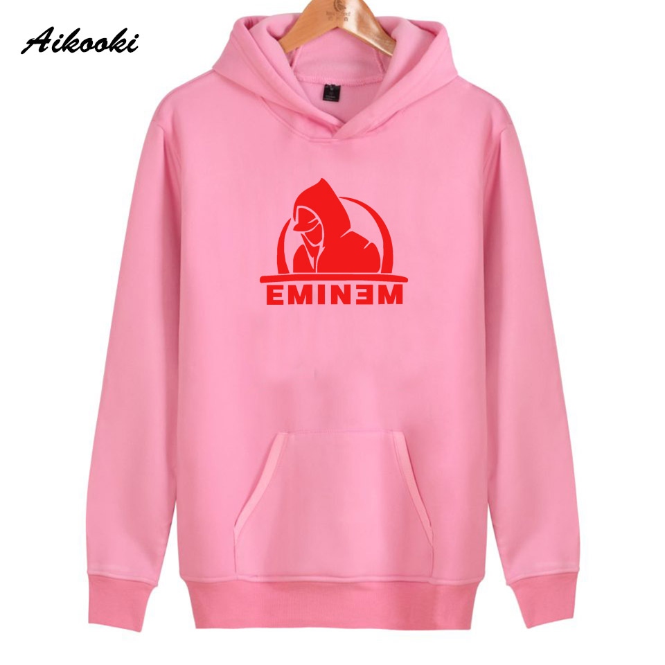 2018 Eminem Hoodies Women/Men Pink High Quality Cotton Eminem Womens Hoodies and Sweatshirt Harajuku Fashion Top Clothes