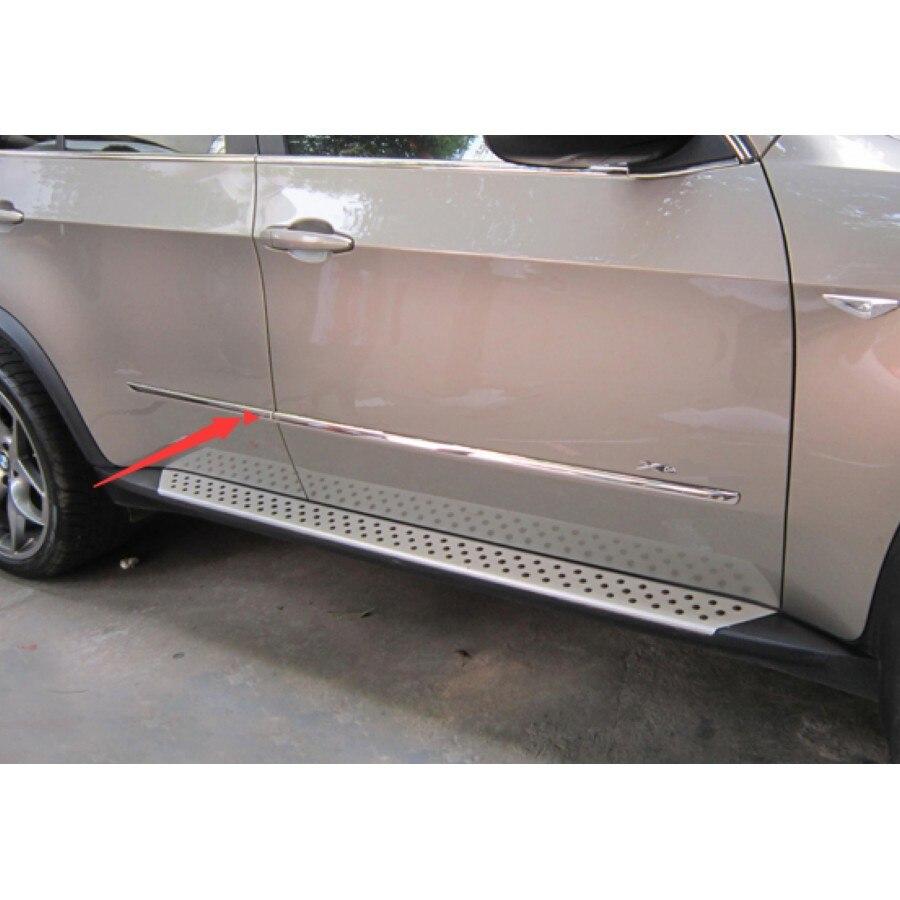 Garniture de protection de corps de porte latérale en acier inoxydable pour BMW X5 E70 2008-2013