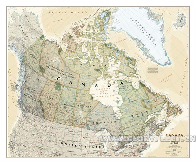 Large vintage canada map bar cafe home decoration detailed antique large vintage canada map bar cafe home decoration detailed antique poster wall chart retro cotton cloth gumiabroncs Choice Image