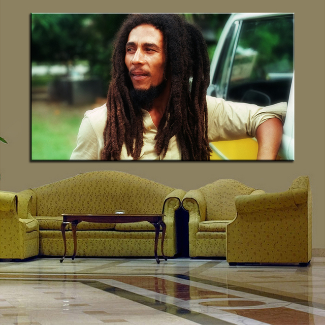 Large size Printing Oil Painting bob marley hd Wall painting Decor ...