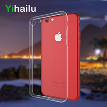 For iPhone 7 Protect Camera Case Transparent Clear TPU Cases For iPhone 8 Back Cover For Apple iPhone7 8Plus Phone Caso
