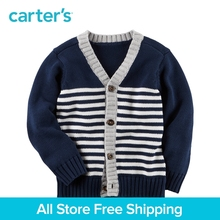 Carter's 1pcs baby children kids clothing boy fall&winter Striped Button-Front Cardigan hem Engineered stripes 263G860