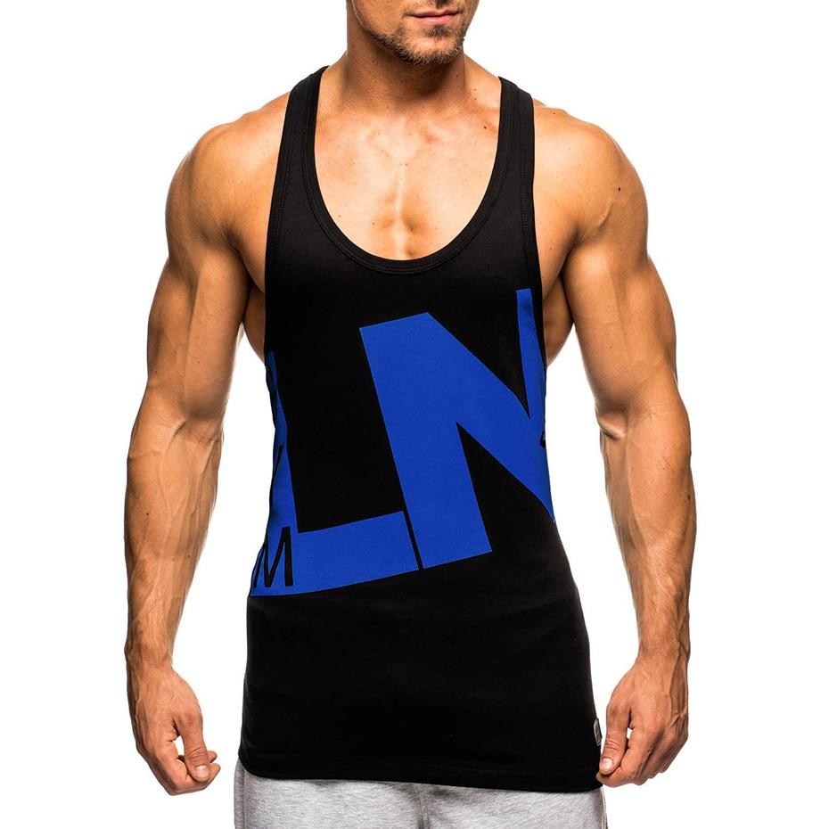 Cotton Sports Skinny Design Mens Tank Top