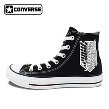 Converse Chuck Taylor Shoes Anime Attack on Titan Scout Regiment Hand Painted Canvas Sneakers Men Women All Star Shoe