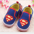2014 New babyshoes / men baby toddler shoes / superman baby soft soled shoes free shipping