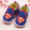2014 Nuevos babyshoes/hombres zapatos del niño del bebé/superman bebé zapatos de suela blanda envío libre