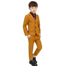 New Boys Suit 5Pcs Kids Wedding Blazer Shirts Vest Stylish Clothing Set Baby Clothes Z10