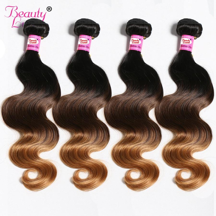 Malaysian Body Wave 4 Bundles Deal Ombre Hair Bundles 100 Human Hair Weave Bundles 1b 4