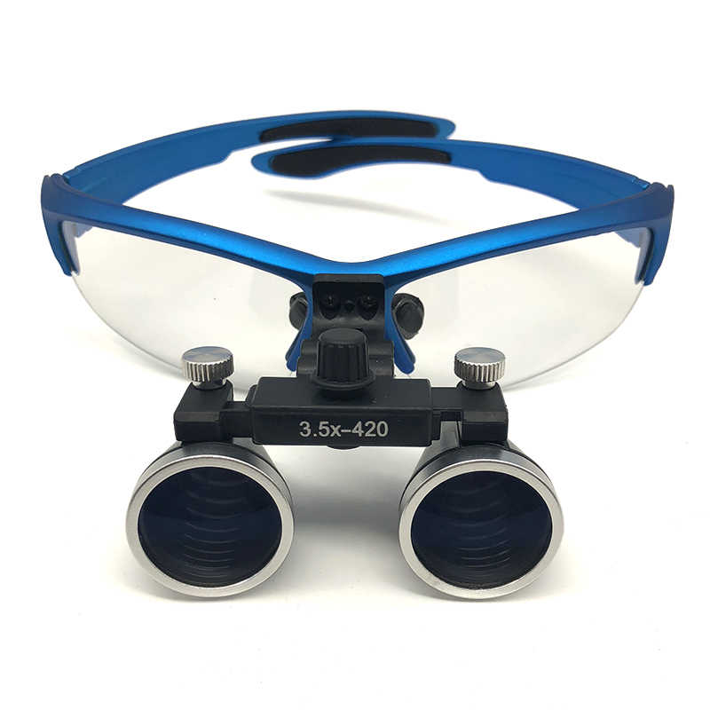 5513c961f887 ... Dental Loupes 3.5X 420 mm Surgical Magnifier Binocular Magnifying Glass  with LED Head Light Lamp ...