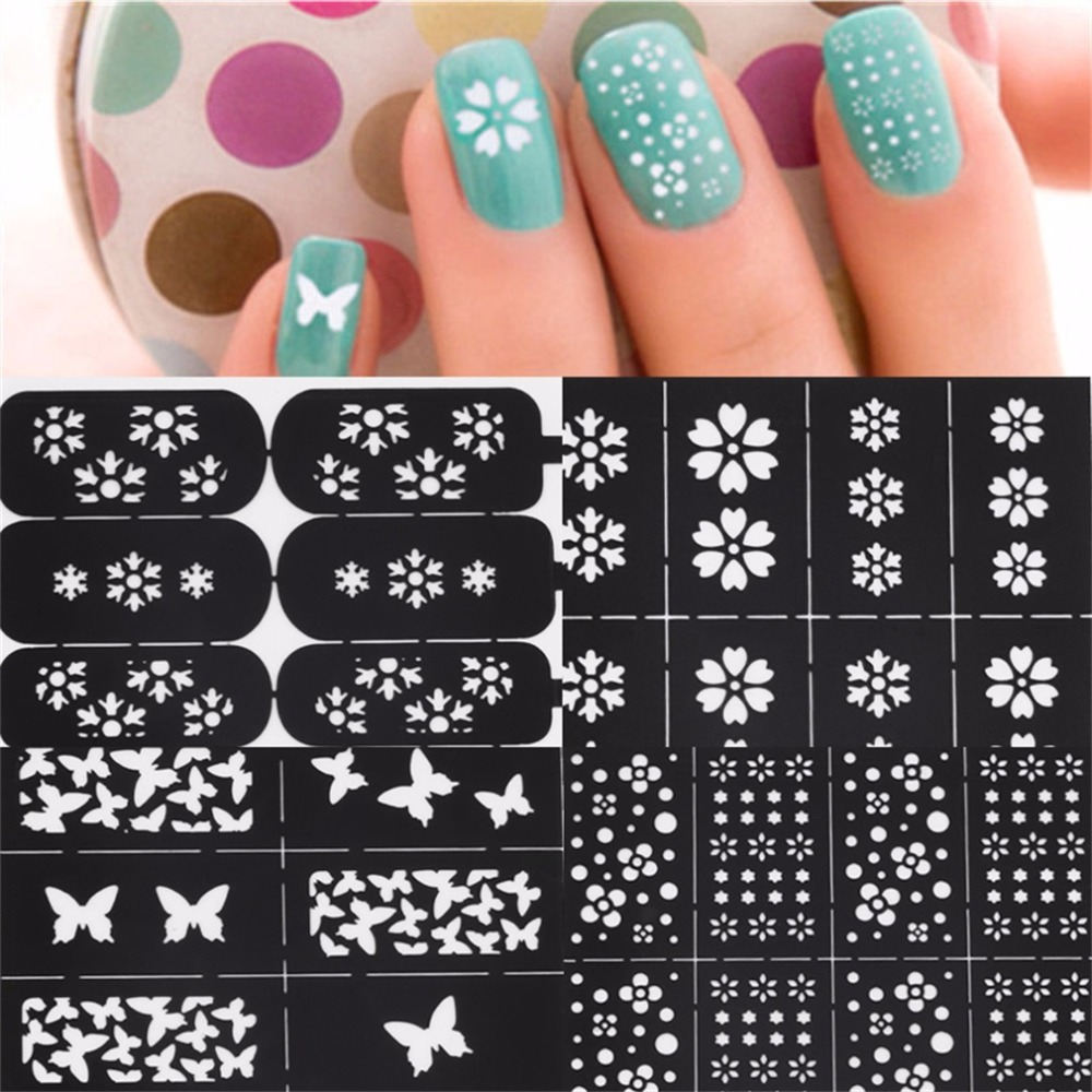 Fantastic Nail Pattern Stencils Embellishment - Nail Art Ideas ...