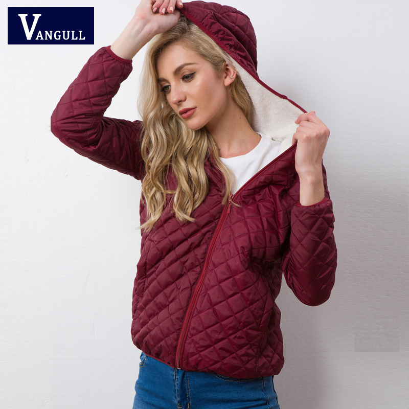 Autumn 2019 New Parkas basic jackets Female Women Winter plus velvet lamb hooded Coats Cotton Winter Jacket Womens Outwear coat 4