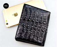 100% genuine crocodile leather skin men wallet alligator skin wallets money clip free shipping