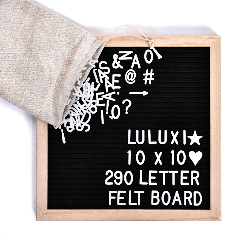 Black Felt Quality Handmade Letter Board Set Changeable Wooden Message Board Sign Wood Frame Canvas Bag Wood Stand 290 Character цена 2017