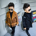 2016 New autumn and winter boy Korean Fashion Skinned Gold-Plated Jacket Children Double-breasted Coat H00222