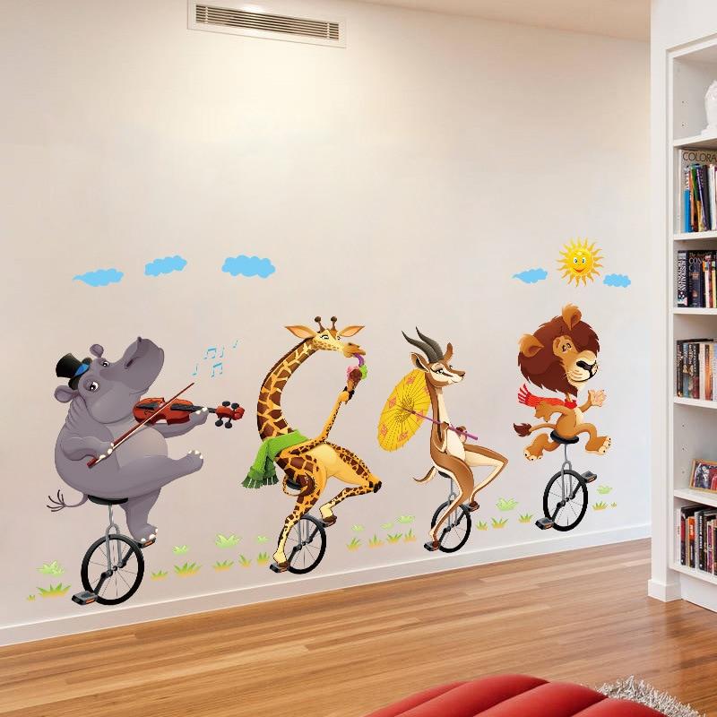 Home Decor Animal Wall Stickers for Hallway Living Room, Kids Bedroom DIY Wall Foot Line Decals Waterproof Corner Wall Sticker