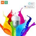 Xiaomi bombilla LED E27 bombilla de luz de Color 800 lúmenes Wifi Mijia APP Control remoto inteligente lámpara de mesa con Alexa y asistente de Google