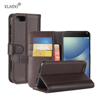KLAIDO Genuine Cow Leather Case For Asus Zenfone 4 Max ZC520KL Cases Leather Bag For Zenfone