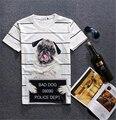 2016 summer harajuku print 3D funny cute pug shirts Smile bulldog Dog t shirt for men women tops tees streetwear top T-shirts