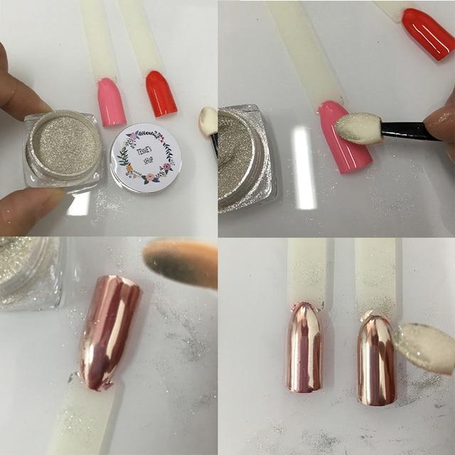 Aliexpress.com  Rose Gold Chrom Nagel Wirkung Auf Rosa Farbe Spiegel Pulver Silber Pigment ...