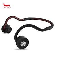 HOTGO Bone Conduction Headphones Newest Open Ear Foldable Bluetooth Headset Black