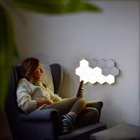 Quantum Lamp Touch Sensitive Night Light Modular Hexagon Panel Lamp Magnetic DIY Creative Decoration Wall Lighting EU/US Plug